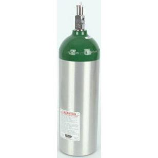Oxygen Cylinder, Aluminum, with Toggle Valve, Size Jumbo D