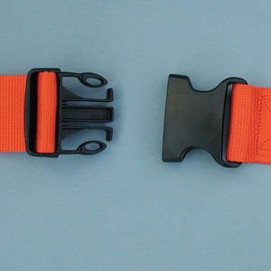 1-piece Disposable Economy Poly Backboard Strap with Plastic Side Release Buckle, 9ft L x 2in W, Orange
