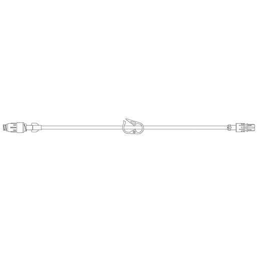 BD IV Extension Set, MaxPlus Clear Needle-Free Connector, 7in, Box of 50