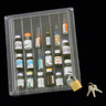 Narcotic Box, Clear Top with Lock, 7.25in L x 6.25in W x 2.125in H