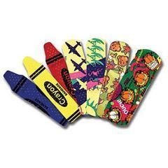 Crayon Bandages, 3/4in x 3in Strips, Latex Free, Assorted Colors, 100 per Box