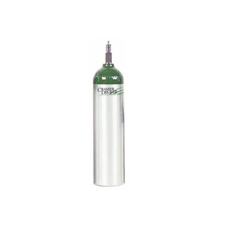 MD Medical Oxygen Cylinder, Aluminum, Z Valve, Size D