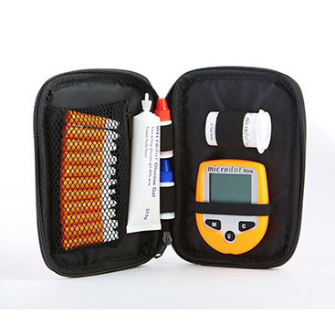 microdot® Xtra Glucometer, with Sleeves and Pouches, for use with CS200-50 Strips Only, Orange