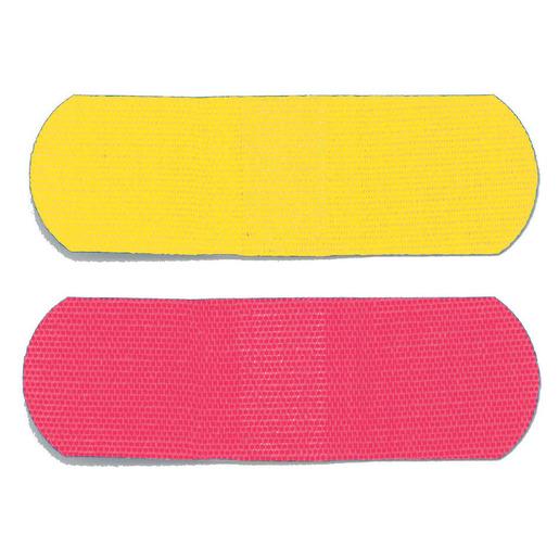 Adhesive Bandage, Flexible Fabric, Neon, 3/4in