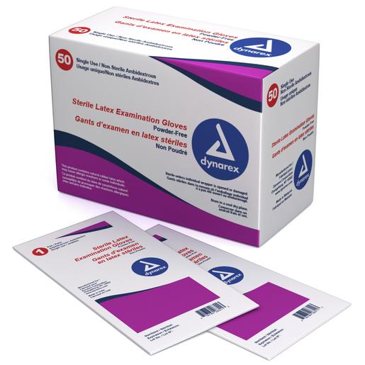 Dynarex Sterile Exam Gloves, Powder Free, Medium