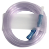 Dynarex® Suction Tubing with Straw Connector, 1/4in x 6ft, Case of 50