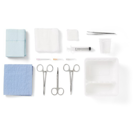 Laceration Tray with Comfort Loop Instruments