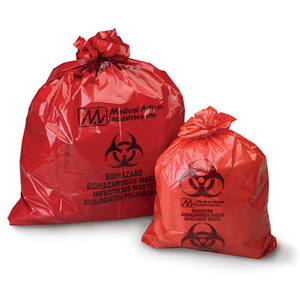 *Discontinued* Biohazard Waste Bag, Red with Black, 25in x 34in