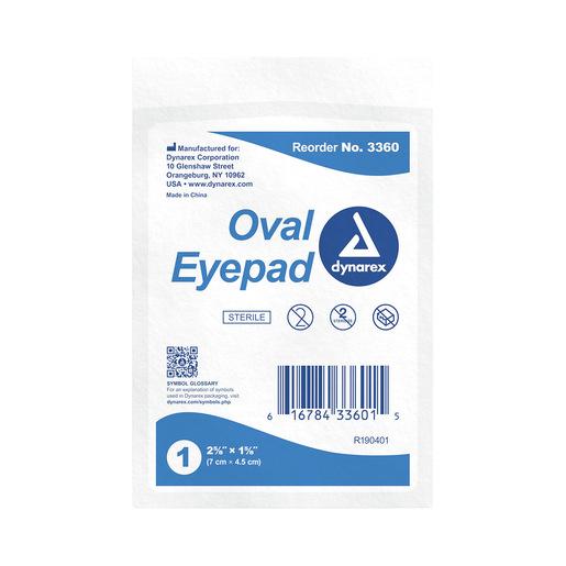 Sterile Oval Eye Pads, 1-5/8in x 2-5/8in