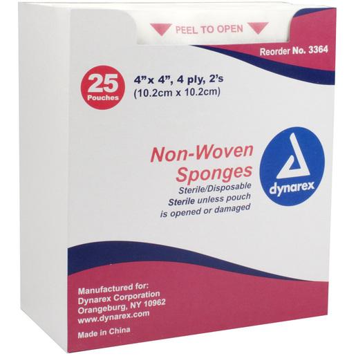Gauze Sponge, Sterile 2s, Non Woven