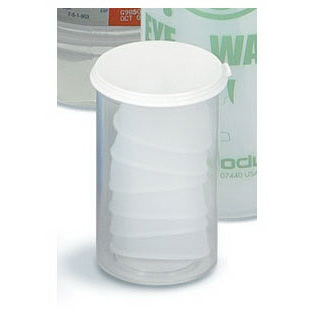 Disposable Eye Cups, White, Plastic