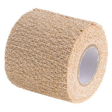 SelfGrip® Tape, 2in, Tan, 98% Cotton and 2% Latex Woven