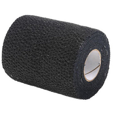 SelfGrip® Tape, 3in, Black, 98% Cotton and 2% Latex Woven
