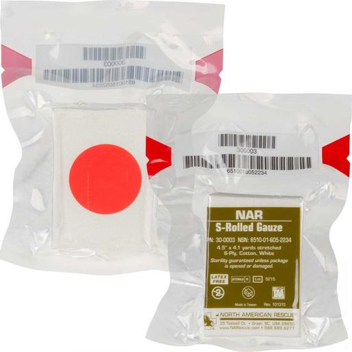 S-Rolled Gauze, 6-ply, 4.5in x 4.1yd