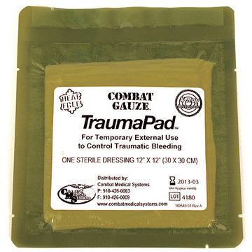 *Discontinued* QuikClot® Combat Hemostatic Gauze® Trauma Pad, 12in x 12in