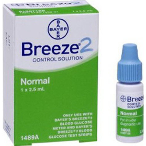 *Discontinued* Breeze2 Glucose Control Solution, Normal, 2.5mL