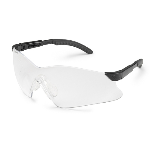 Gateway Hawk® Safety Glasses, Black Temple, Clear Lens