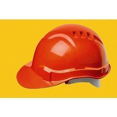 Serpent® Cap Style Vented Hard Hat with Ratchet Adjustment, Blue