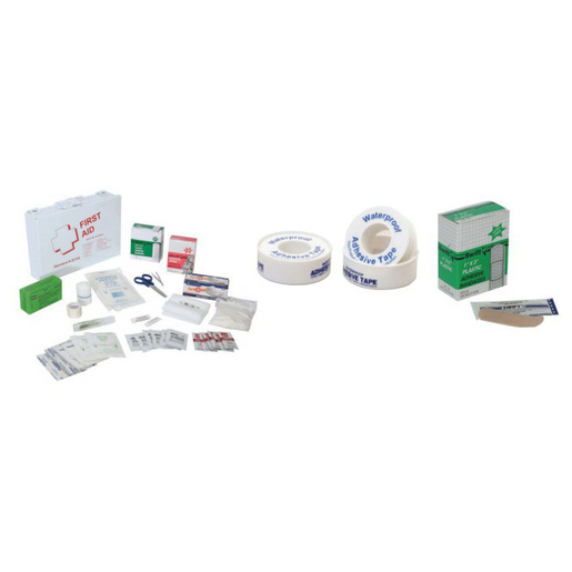 First-Aid Kit, Standard, 3.25in L x 10.5in W x 7.5in H, Plastic