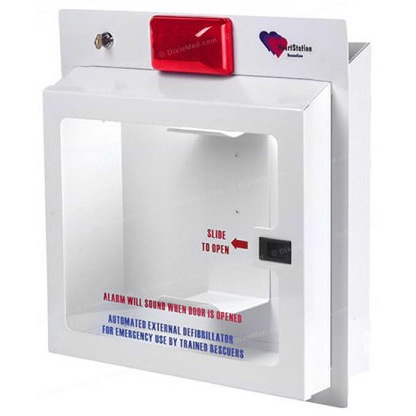 HeartStation RescueCase RC5300 Wall Mount AED Cabinet with Alarm