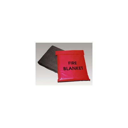 Fire Blanket and Carrying Bag, Red, 62in W x 84in L Blanket, 18in W x 21in H Bag