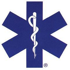 Star of Life Emblem with Border, Die Cut, 12in x 12in