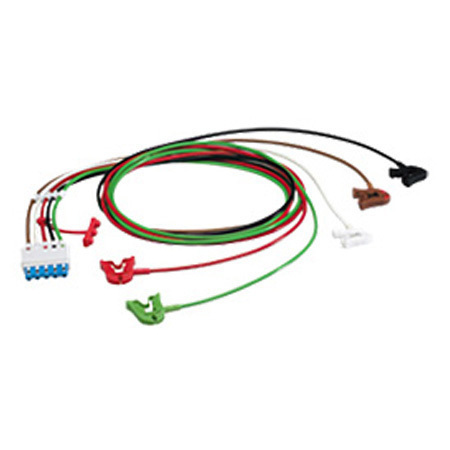 ECG Monitor Cable Set with Grabbers, 1.6m L
