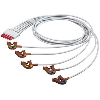 ECG Monitor Cable Set with Grabbers, 1m L