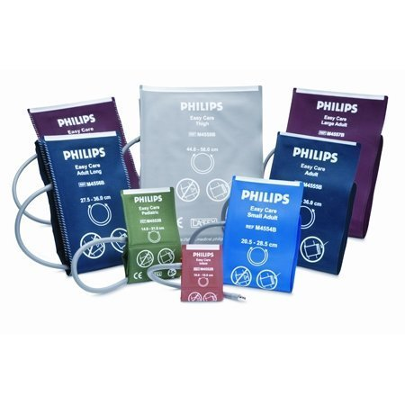 Easy Care Reusable Blood Pressure Cuff for Philips MRx, Single Hose, Adult Large, Navy Blue