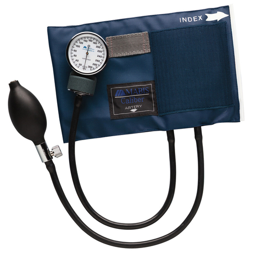 Caliber® Adjustable Aneroid Blood Pressure Cuff, Large Adult, Navy Blue