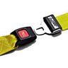 Nylon Strap, Metal Push Button Buckle, Loop-Lok Ends, 2-Piece, 5ft, Yellow