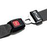 Nylon Strap, Metal Push Button Buckle, Metal Swivel Speed Clip Ends, 2-Piece, 5ft, Black