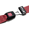 Nylon Strap, Metal Push Button Buckle, Metal Swivel Speed Clip Ends, 2-Piece, 5ft, Maroon