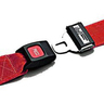 Nylon Strap, Metal Push Button Buckle, Metal Swivel Speed Clip Ends, 2-Piece, 5ft, Red