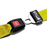 Nylon Strap, Metal Push Button Buckle, Metal Swivel Speed Clip Ends, 2-Piece, 5ft, Yellow