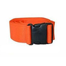 Disposable Poly Strap, Plastic Side-Release Buckle, 1-Piece, 9ft, Orange