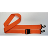 Disposable Poly Strap, Plastic Side-Release Buckle, Plastic Swivel Speed Clip Ends, 2-Piece, 5ft, Orange