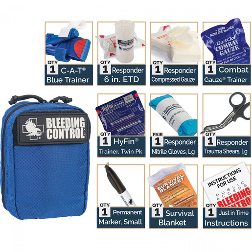 Public Access Individual Bleeding Control Blue Trainer Kit