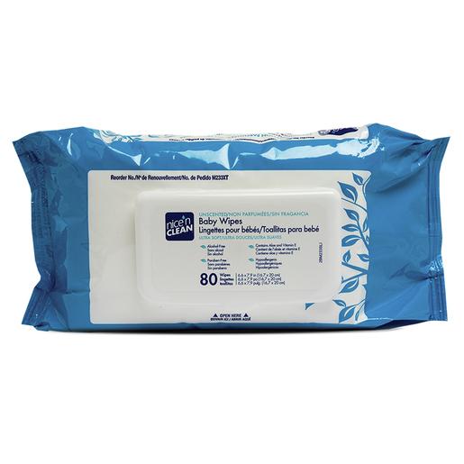 Nice'n Clean® Baby Wipes, Pack of 80