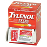 Tylenol® Extra Strength Acetaminophen, 500mg, 2 per Pack, Box of 50 Packs
