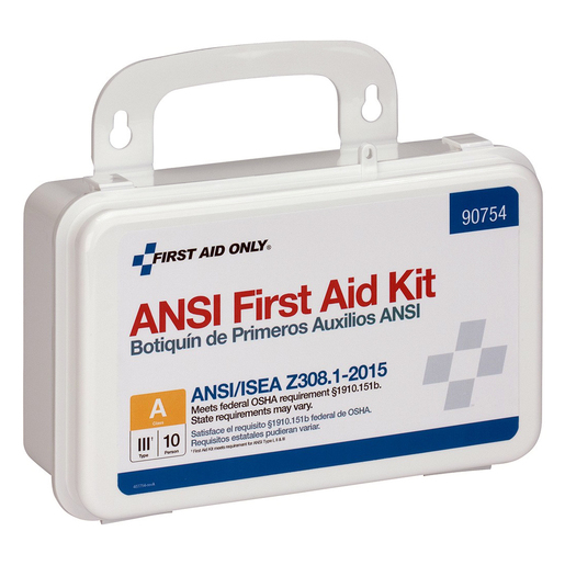 FIRST AID ONLY® 10-Person ANSI A First Aid Kit, Plastic