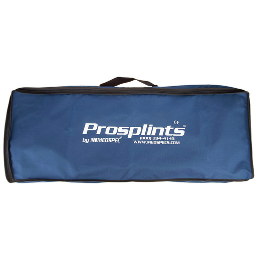 Carry Case, Large, 38.5 L x 13.5 W x 5.5in D, Black, Nylon, Zipper Closure, For Splints