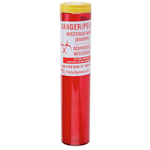 Pro-Vac Sharps Container Tube, Red, 1.5in