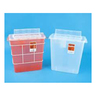 *Limited Quantity* SharpSafety GatorGuard In Room Sharps Container, 5qt, Transparent Red