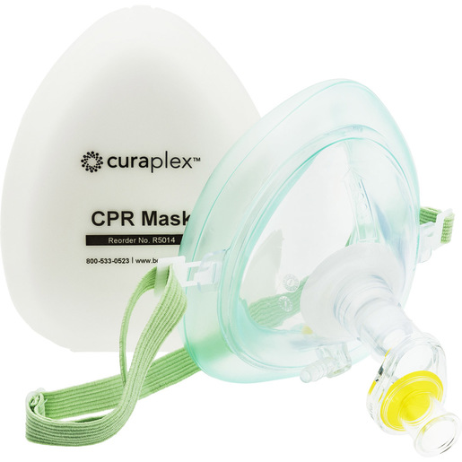 Curaplex® Select CPR Pocket Mask with O2 Inlet