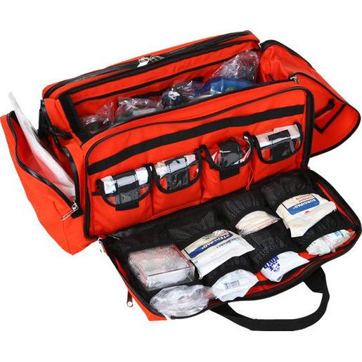 Trauma Oxygen Bag, Orange, A.B.S, Plastic, Pocketed