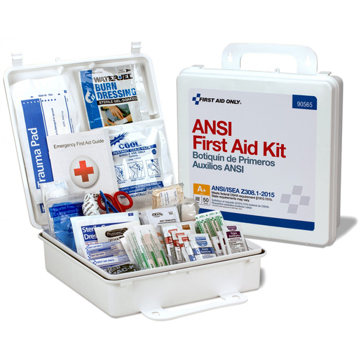 FIRST AID ONLY® 50-Person ANSI A+, Type III First Aid Kit, Plastic
