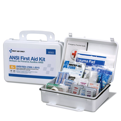 FIRST AID ONLY® 25-Person ANSI A+ Type III First Aid Kit, Plastic