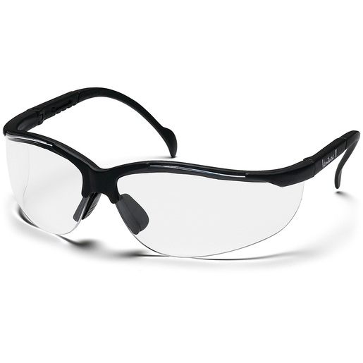 Venture II Goggles, Clear Lens, Black Frame *Non-Returnable and Non-Cancelable*