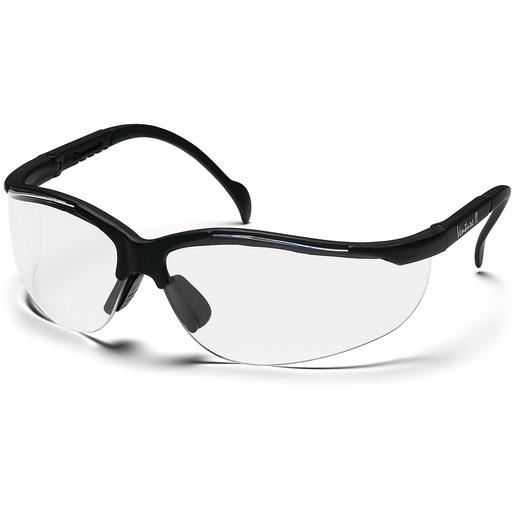 Venture II Goggles, Clear Lens, Black Frame